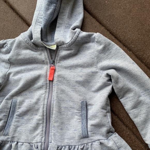 OSHKOSH GENUINE KIDS HOODED SWEATSHIRT Sweater GRAY HOODIE SIZE 3T NEW